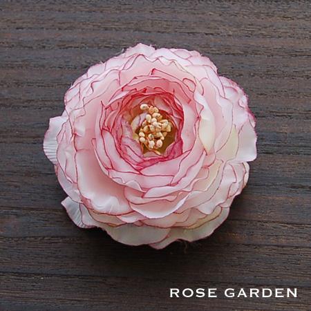 【結婚式2次会、成人式のヘアアクセ】コサージュ ラナンキュラス・ピンク|rosegarden