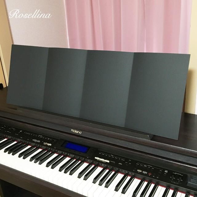 4面楽譜台紙(ブラック 2枚入り) クリックポストOK|rosellina