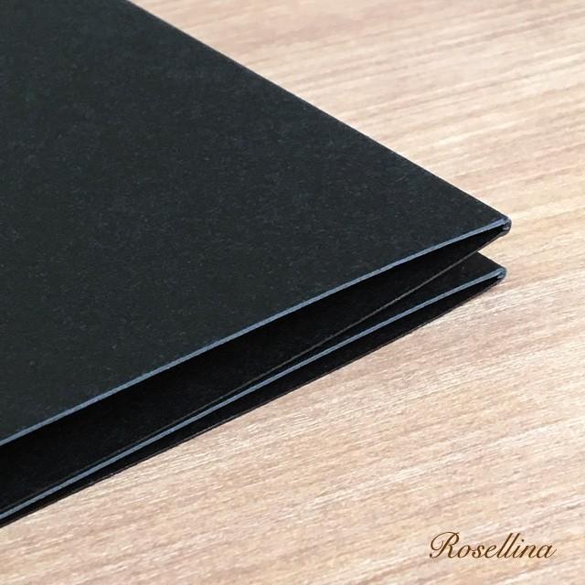 4面楽譜台紙(ブラック 2枚入り) クリックポストOK|rosellina|04