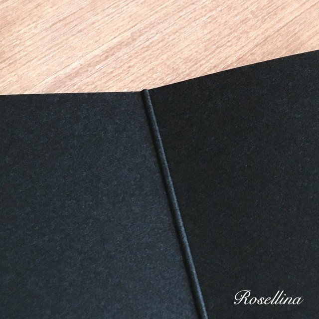 4面楽譜台紙(ブラック 2枚入り) クリックポストOK|rosellina|05