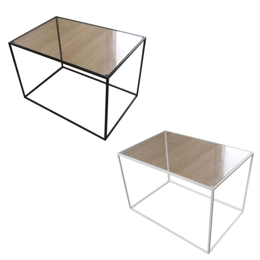 トレイテーブル サイドテーブル 600×400mm ガラス ブラック・HBG-041(家具 イス テーブル) テーブル)