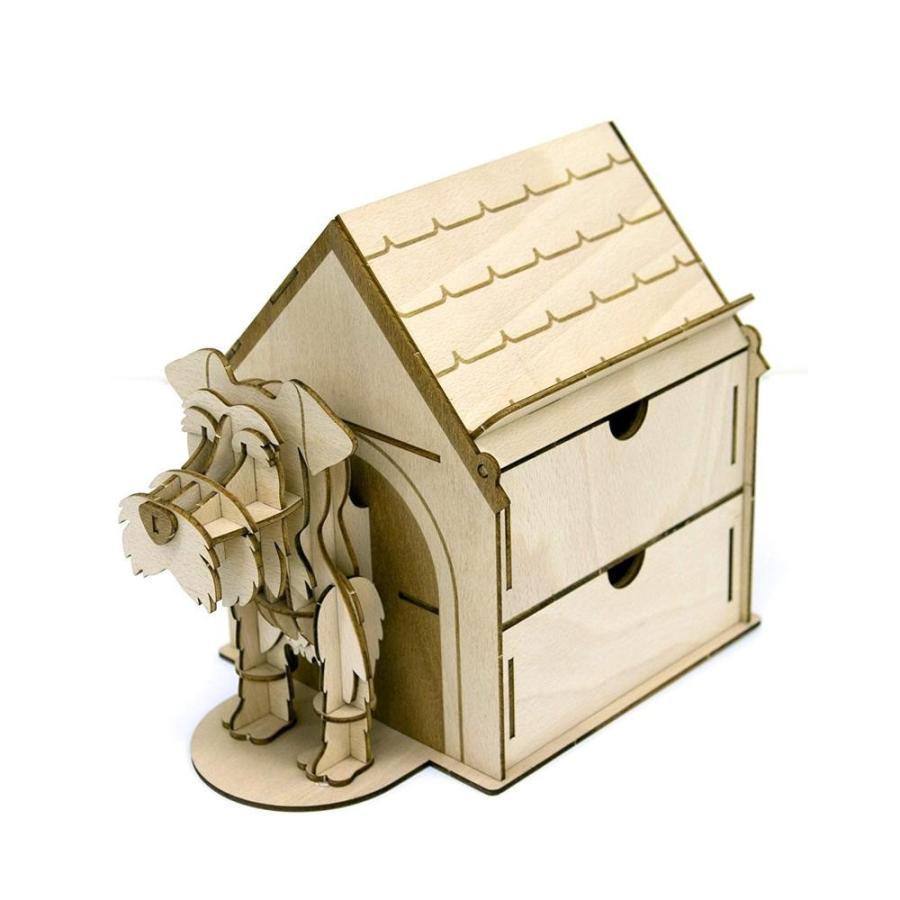 ki-gu-mi Living ミニチュアシュナウザー ハウス型収納ケース(玩具)