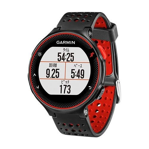 ガーミン Garmin GPS搭載ランニングウォッチ フォーアスリート235J カラー 心拍計 11時間稼働 ブラック-レッド 日本版正規品 010-03717-6H