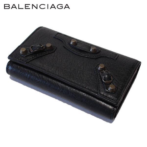 最新情報 BALENCIAGA バレンシアガ 253048 D940T 1000 CLASSIC OSAKA クラシックオオサカ BLACK ブラック キーケース, 豊町 059f2518