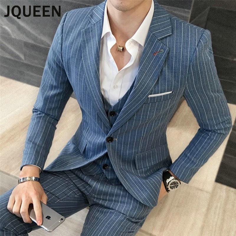 Jqueen スーツ メンズ スリーピーススーツ 結婚式 カジュアルスーツ