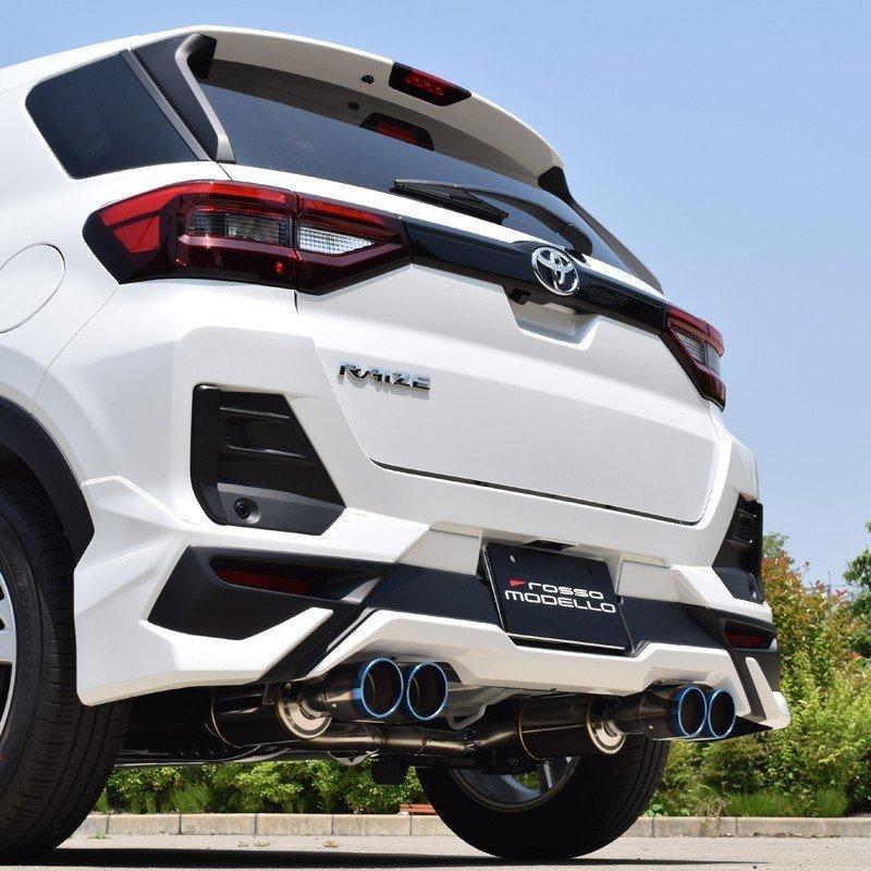 モデリスタエアロ対応 ライズ 4本出しマフラー 2WD 5BA-A200A COLBASSO  ロッソモデロ GT-FOUR RAIZE ブルー rossomodello 03