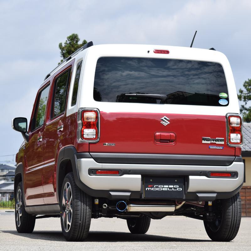 予約開始!ハスラー MR92S 4WD NA ロッソモデロ IKUSA-Ti スズキ HUSTLER 左出しデザイン クロカン |rossomodello|05