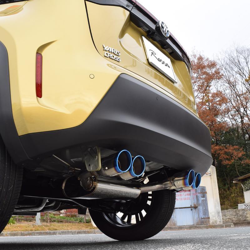 予約!4本出し!4WD用 トヨタ ヤリスクロス マフラー ハイブリッド  MXPJ15  DUALIST GT-Four  ロッソモデロ YARISCROSS|rossomodello|02