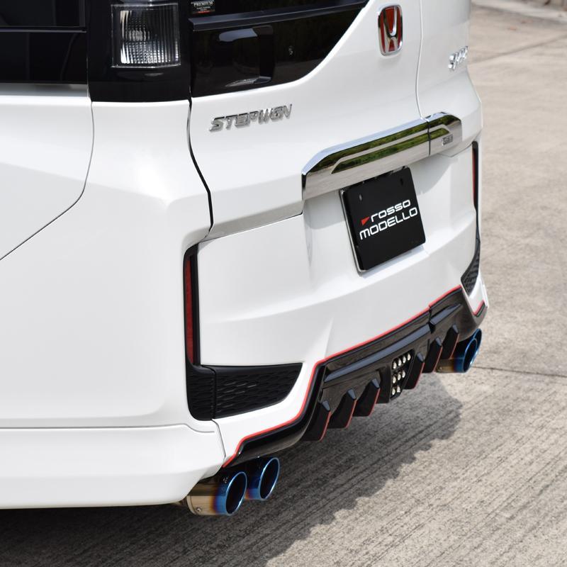 ステップワゴン RP3 スパーダ マフラー DUALIST GT-Four チタン4本出し ブルー rossomodello 04