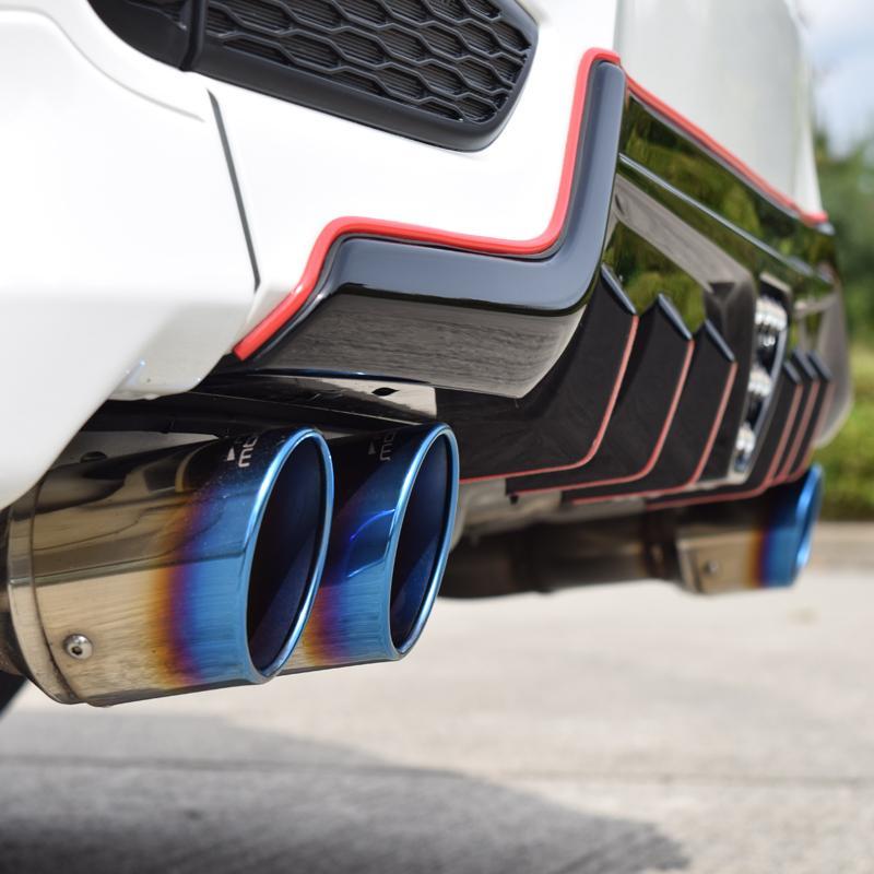ステップワゴン RP3 スパーダ マフラー DUALIST GT-Four チタン4本出し ブルー rossomodello 08