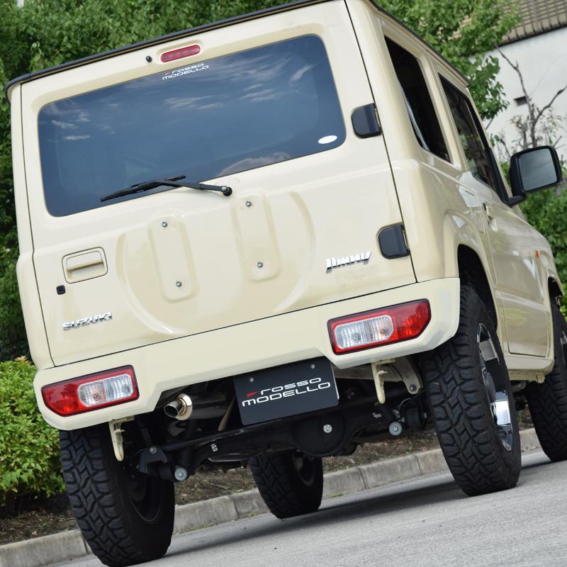予約販売!新型ジムニー JB64W  マフラー DUSSEL IKUSA-XD ショートバンパー用 左出し  JIMNY|rossomodello|11
