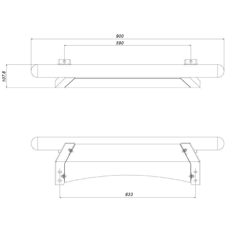 フロントバー ジムニーシエラ JB74W ロッソモデロ IKUSA ランプステー付き アンダーバー ガードバー|rossomodello|15