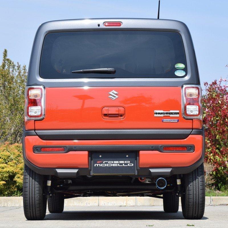 新型ハスラー マフラーカッター MR92S 2WD NA ロッソモデロ MARVELOUS T1 ブルー|rossomodello|04