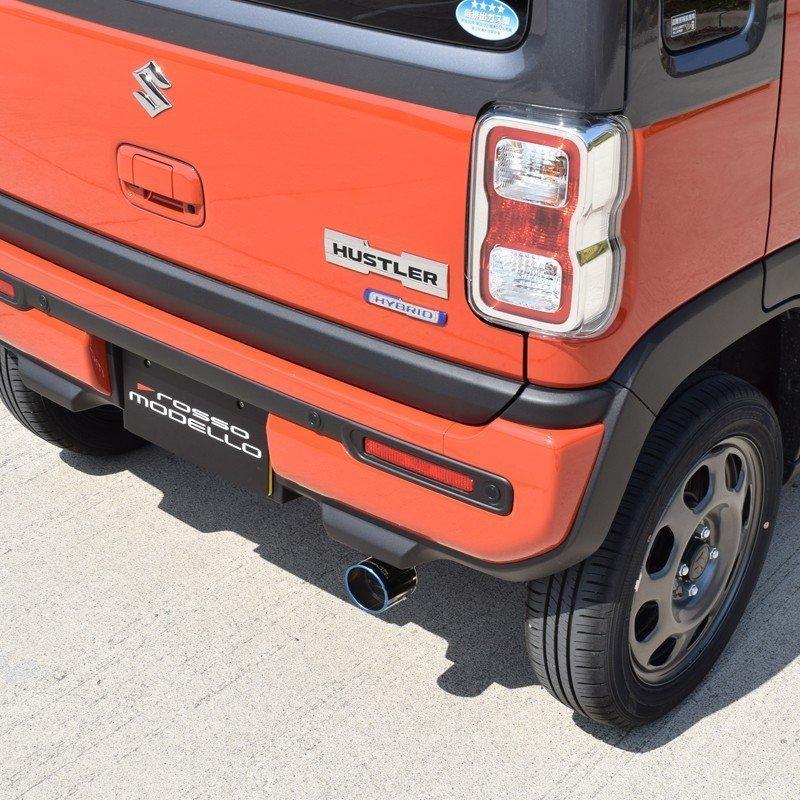新型ハスラー マフラーカッター MR92S 2WD NA ロッソモデロ MARVELOUS T1 ブルー|rossomodello|07
