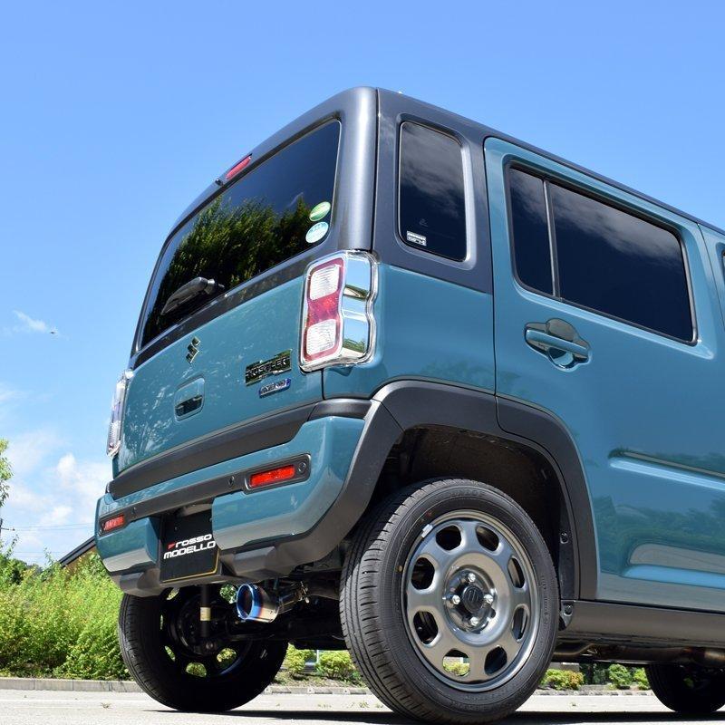 新型ハスラー 2WD ターボ マフラーカッター MR52S ロッソモデロ MARVELOUS T1 HUSTLER ブルー rossomodello 06