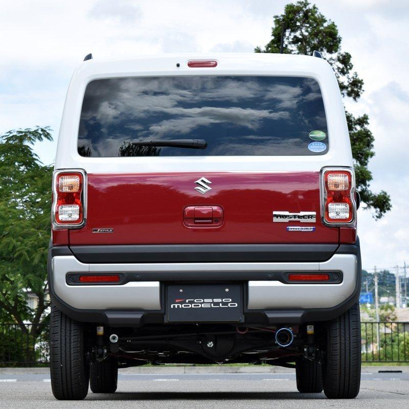 新型ハスラー 4WD NA車専用 マフラーカッター MR92S  ロッソモデロ MARVELOUS T1 ブルー|rossomodello|04