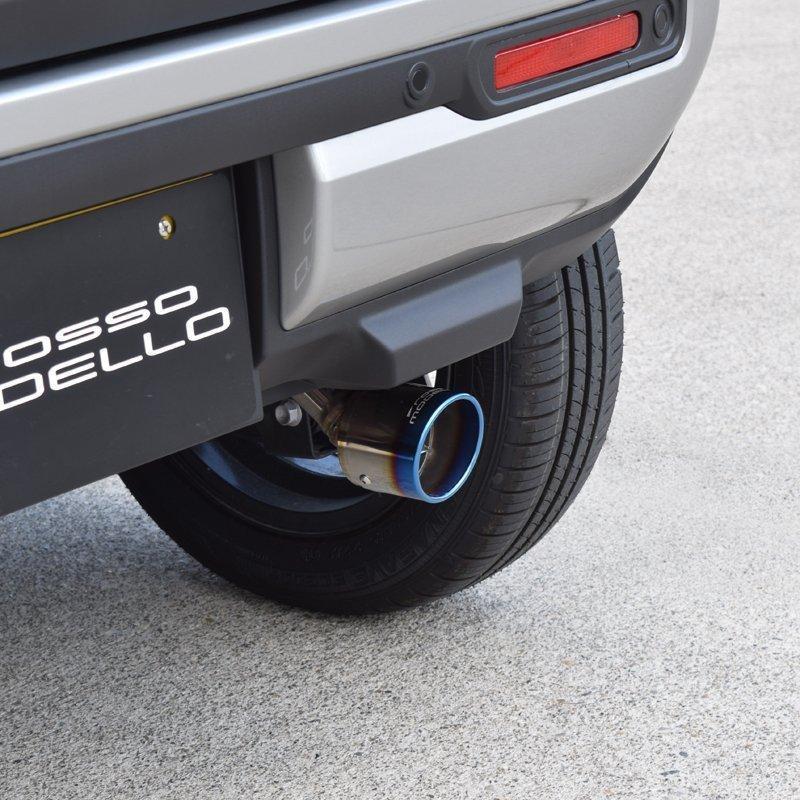 新型ハスラー 4WD NA車専用 マフラーカッター MR92S  ロッソモデロ MARVELOUS T1 ブルー|rossomodello|05