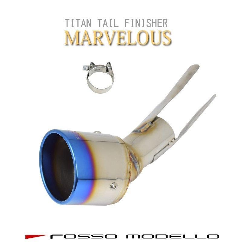 新型ハスラー 4WD NA車専用 マフラーカッター MR92S  ロッソモデロ MARVELOUS T1 ブルー|rossomodello|08