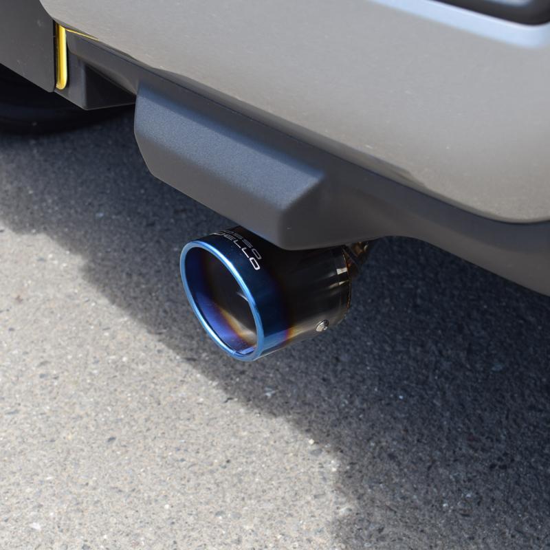 新型ハスラー 4WD NA車専用 マフラーカッター MR92S  ロッソモデロ MARVELOUS T1 ブルー|rossomodello|09