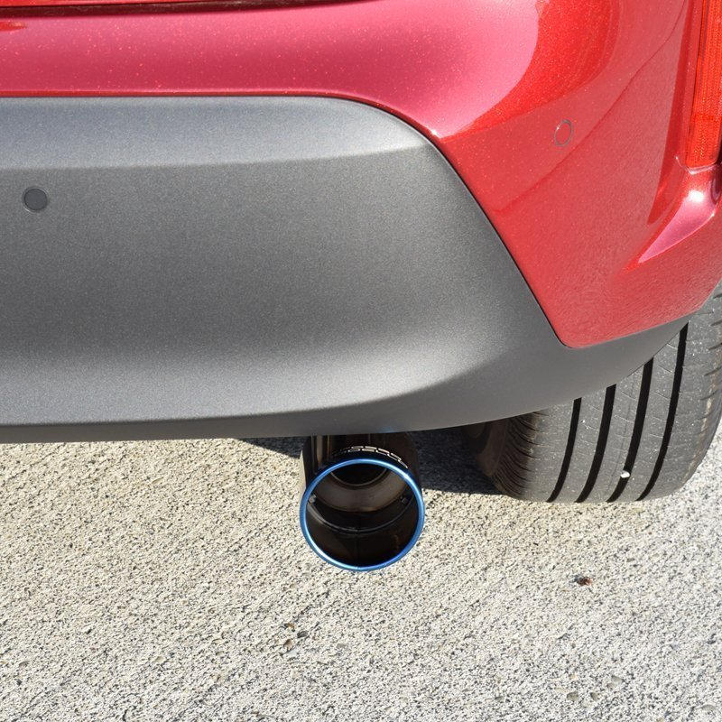 ヤリスクロス 4WD MXPJ15  ハイブリッド4WD マフラーカッター ロッソモデロ MARVELOUS T1  チタン ブルー|rossomodello|06