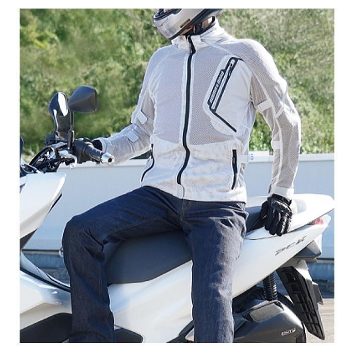 サイズ交換可能 ラフアンドロード RR7345 ダイレクトエアメッシュパーカーFP 真夏 バイクジャケット 通気性 ROUGH&ROAD|roughandroad-outlet|10