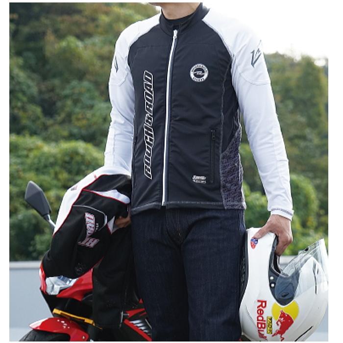 サイズ交換可能 ラフアンドロード RR7550 アーマージャケット バイク 吸水速乾 UVカット ストレッチ ROUGH&ROAD|roughandroad-outlet|07