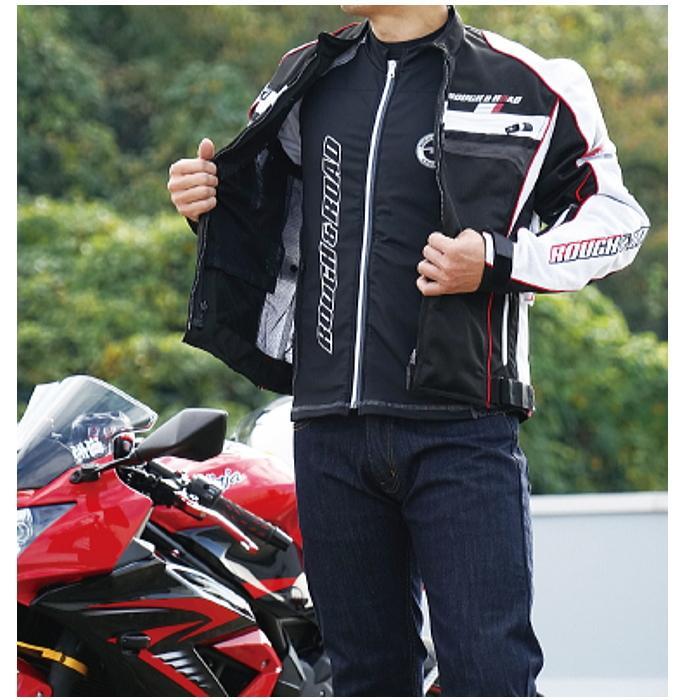 サイズ交換可能 ラフアンドロード RR7550 アーマージャケット バイク 吸水速乾 UVカット ストレッチ ROUGH&ROAD|roughandroad-outlet|08