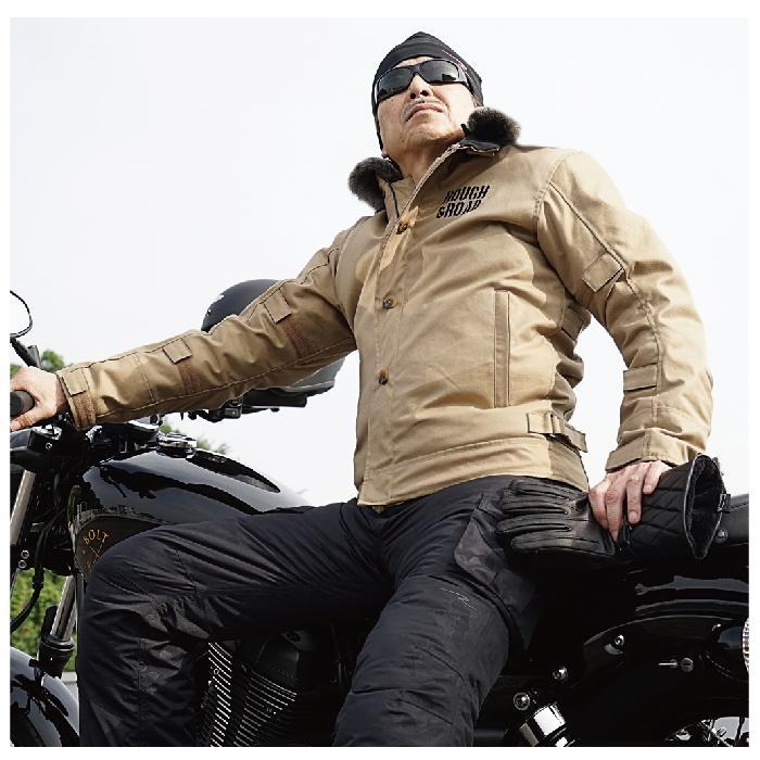 サイズ交換可能 ラフアンドロード RR7691 N-1RボアウインタージャケットFP 秋冬 バイクジャケット ROUGH&ROAD|roughandroad-outlet|09
