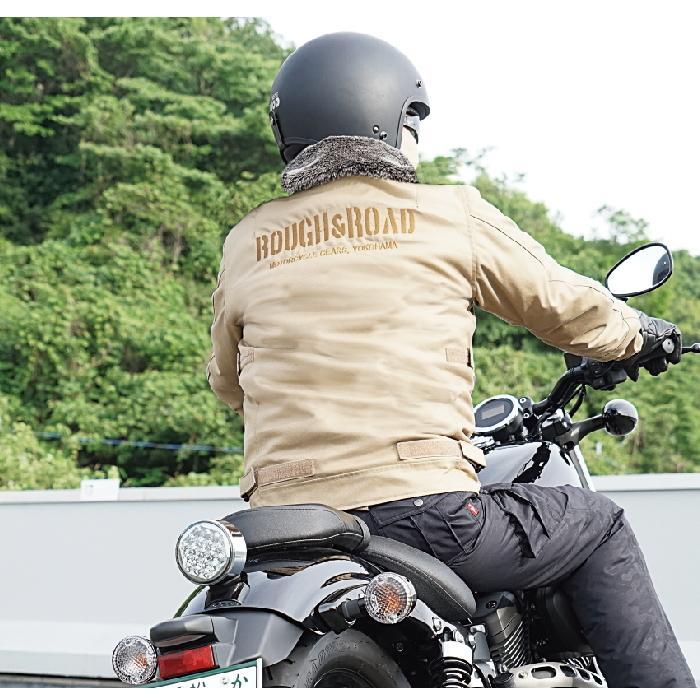 サイズ交換可能 ラフアンドロード RR7691 N-1RボアウインタージャケットFP 秋冬 バイクジャケット ROUGH&ROAD|roughandroad-outlet|10