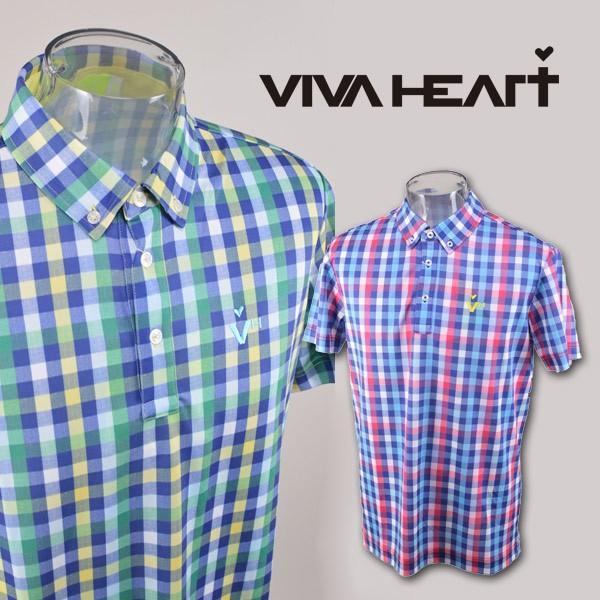 ビバハート メンズ/半袖ポロシャツ(M)(L)(LL) ゴルフウェア VIVA HEART 011-25343