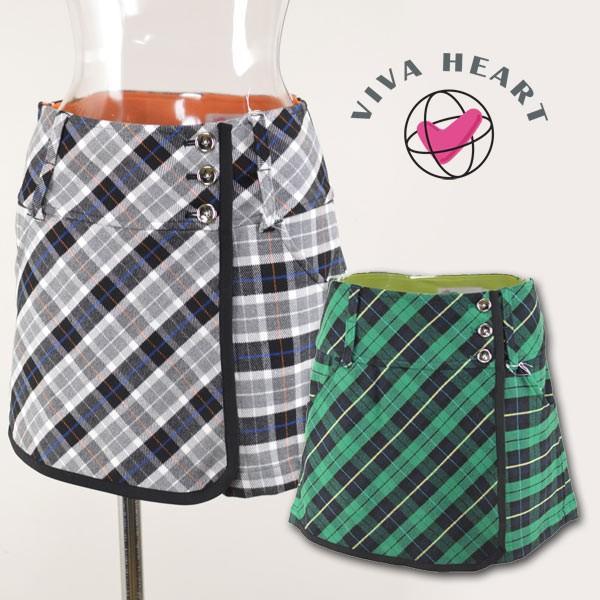 ビバハート レディース/ラップスカート ゴルフウェア (S)(M) VIVA HEART 012-72142-13