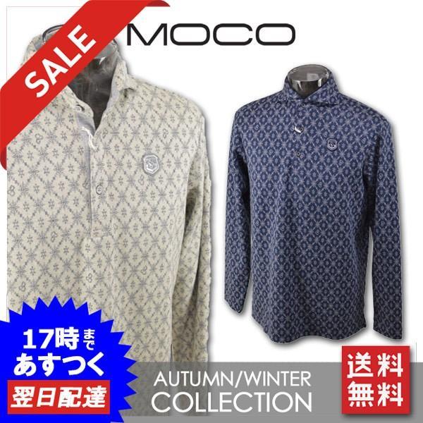 モコ メンズ 長袖ポロシャツ(M)(L)(LL) ゴルフウェア MOCO 212182011
