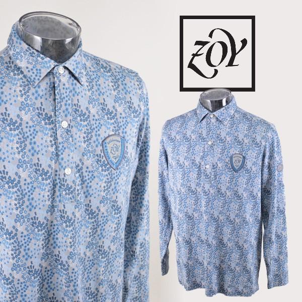 ゾーイ メンズ/長袖ポロシャツ(M)(L) ゴルフウェア ZOY 24001-83