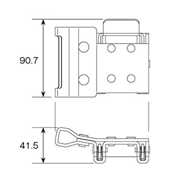 トラック用品 WP-1-50オールセーフダブルワンピース金具(左右セット) route2yss 04