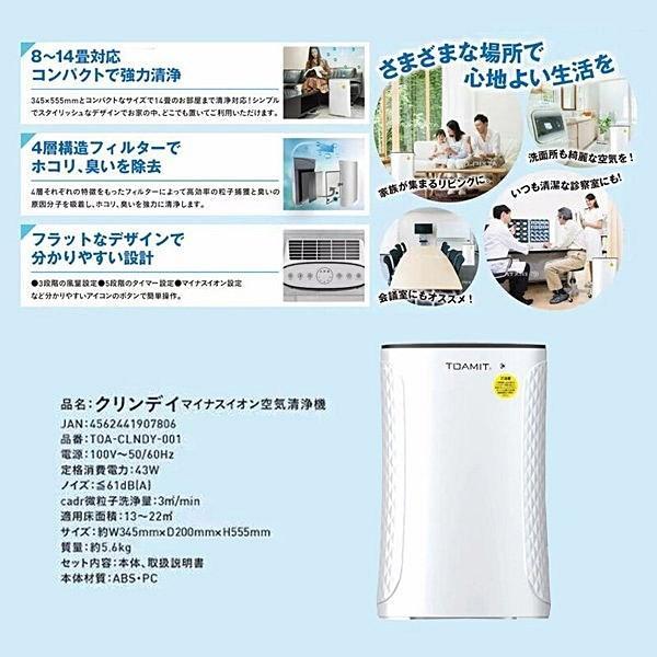 マイナスイオン空気清浄機 クリンデイ TOA-CLNDY-001 マイナスイオン CLINDAY 送料無料|rovel|03