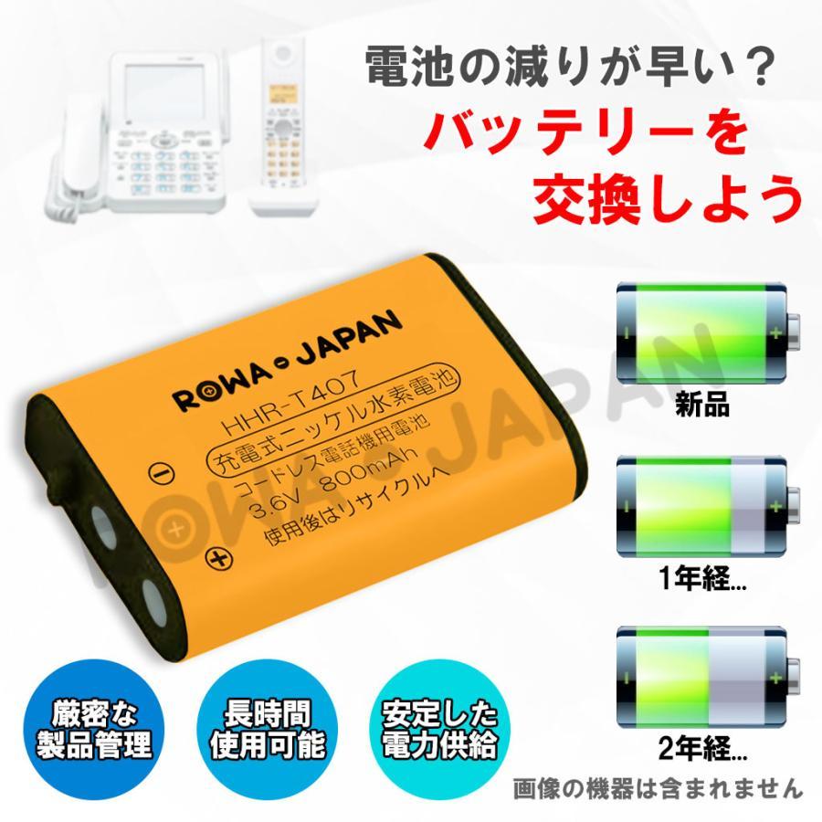 パナソニック対応 KX-FAN51 BK-T407 HHR-T407 / NTT 電池パック-092 コードレス子機 対応 互換 充電池 【ロワジャパン】|rowa|03