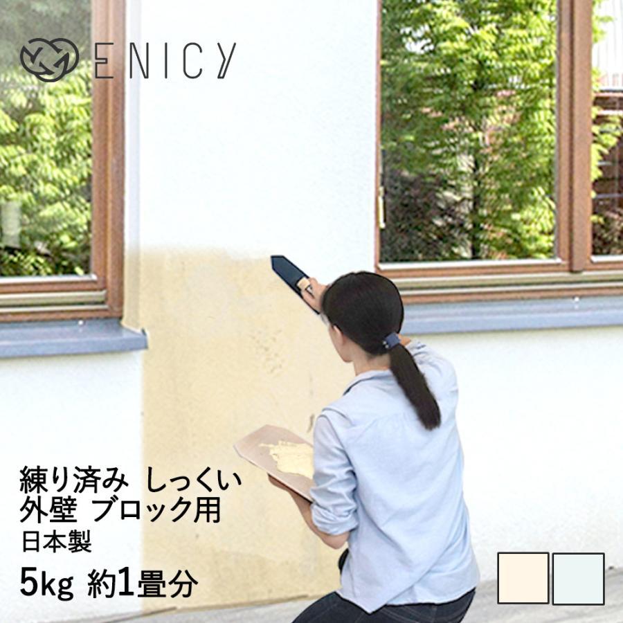 簡単 練り済み 漆喰 外壁 ブロック用 5kg 約1畳分 約2平米 左官道具