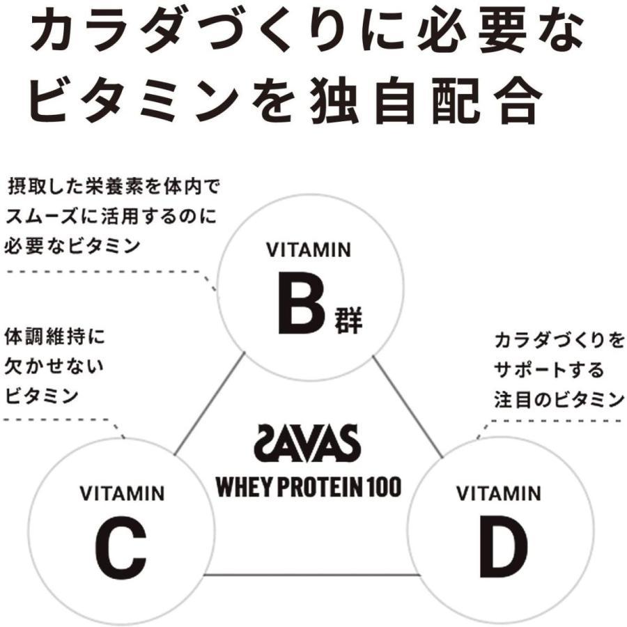 ザバス(SAVAS) ホエイプロテイン100+ビタミン リッチショコラ味 【50回分】 1,050g|rrcompany|06