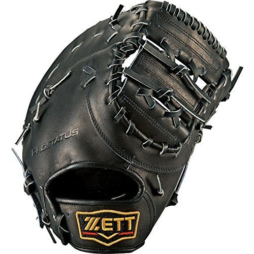 ZETT(ゼット) 野球 硬式 ファースト ミット プロステイタス (右投げ用) BPROFM33 ブラック