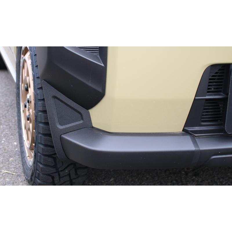 ケンスタイル フロントバンパーサイドガーニッシュ ダイハツ タフト LA900S/LA910S R2/6- ≪ 左右計2個セット マットブラック塗装仕様 ≫|rs-online|03