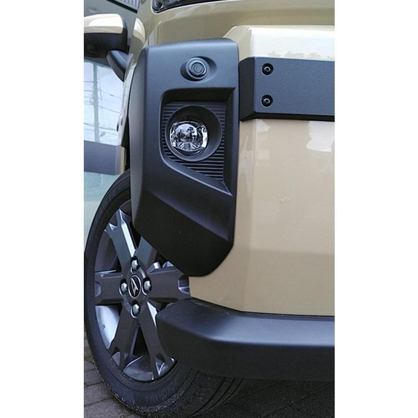 ケンスタイル フロントバンパーサイドガーニッシュ ダイハツ タフト LA900S/LA910S R2/6- ≪ 左右計2個セット マットブラック塗装仕様 ≫|rs-online|06