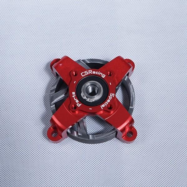 CS RACING ベルハウス超々ジェラルミン製ベル D79/ 赤色 Ergal Bell House + Ventilated Bell D79 赤