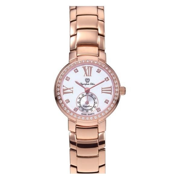 最新の激安 OLYMPIA STAR(オリンピア スター) レディース 腕時計 OP-28012DLR-5, スワロ問屋 b5455714