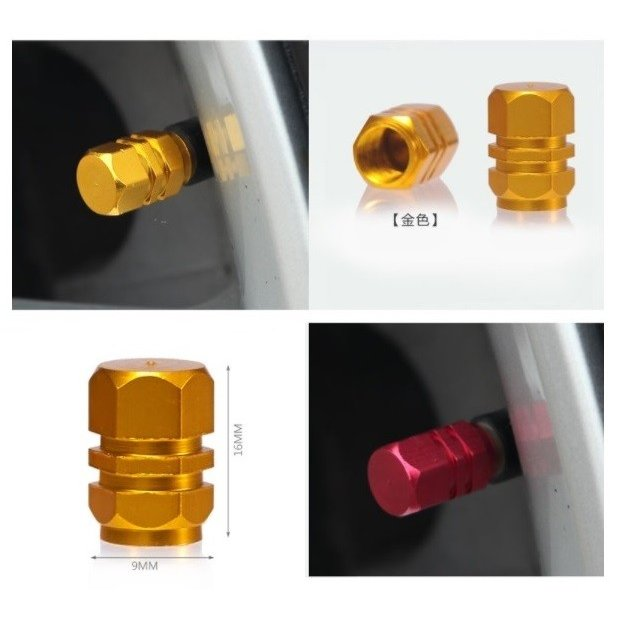 タイヤバルブキャップ エアーバルブキャップ 雰囲気が変わる アルミ 軽量 カラー タイヤバルブ キャップ R1009-JH|rtk0727|02