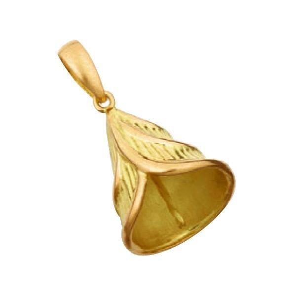 【1個売り】 真珠用パーツ 18金 イエローゴールド フラワーモチーフペンダントトップパーツ 笠タイプ 11.5mmから13.0mm玉用|パーツ 部品 貴金属