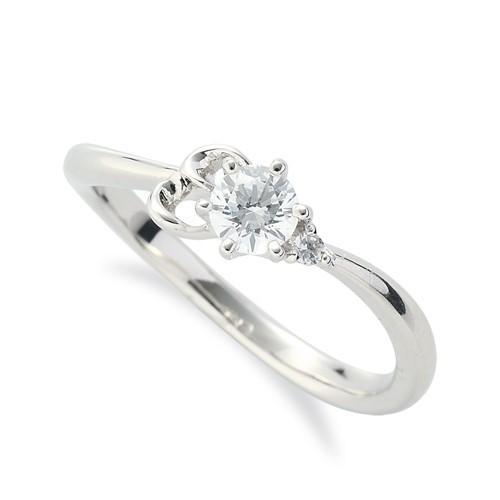 【高い素材】 指輪 18金 ホワイトゴールド 天然石 E イニシャルモチーフのサイドストーンリング 主石の直径約3.8mm ウェーブ 六本爪留め, Life and Peak 665a755f