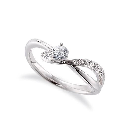 本物保証!  指輪 18金 ホワイトゴールド 天然石 サイドストーンリング 主石の直径約3.8mm ウェーブ 割り腕, 輸入家具 Lassic c4f0f571
