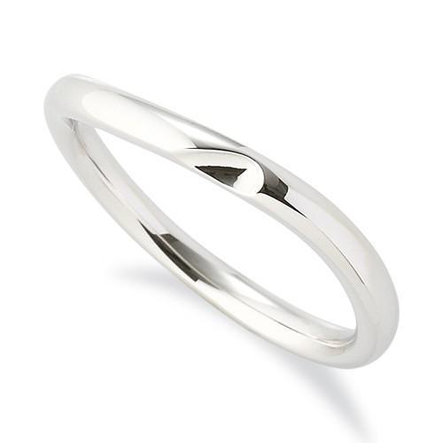 大人気 指輪 18金 指輪 18金 ホワイトゴールド 幅2.5mm 窪みのあるウェーブリング 幅2.5mm, 岩美町:41a540ef --- chizeng.com