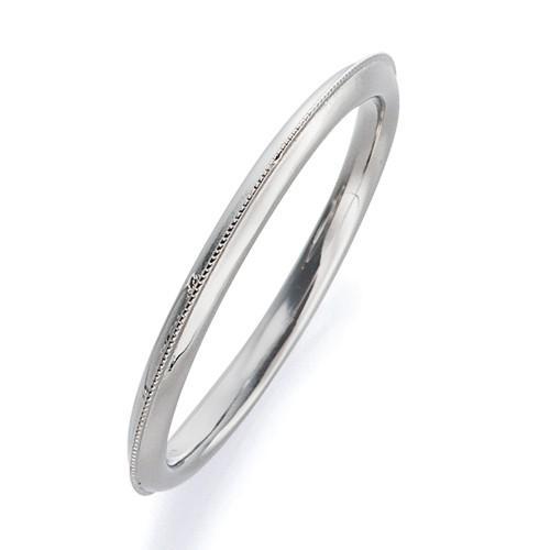 正規店仕入れの 指輪 18金 指輪 ホワイトゴールド 幅1.7mm 上品なミル打ちラインリング 幅1.7mm, ファルマ シンシア:86cdf299 --- airmodconsu.dominiotemporario.com