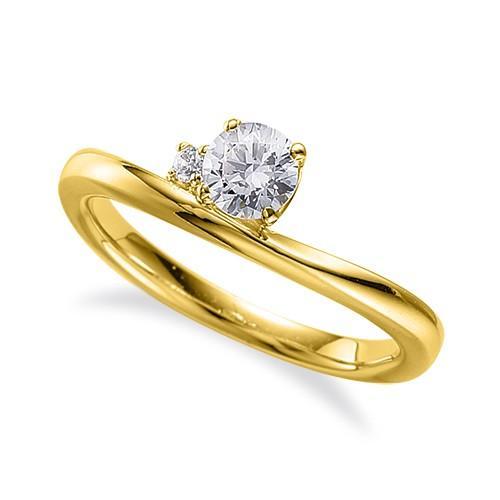 【名入れ無料】 指輪 指輪 18金 イエローゴールド 天然石 18金 サイドストーンリング 主石の直径約4.4mm V字 V字 四本爪留め, やまぐちけん:1268848d --- airmodconsu.dominiotemporario.com
